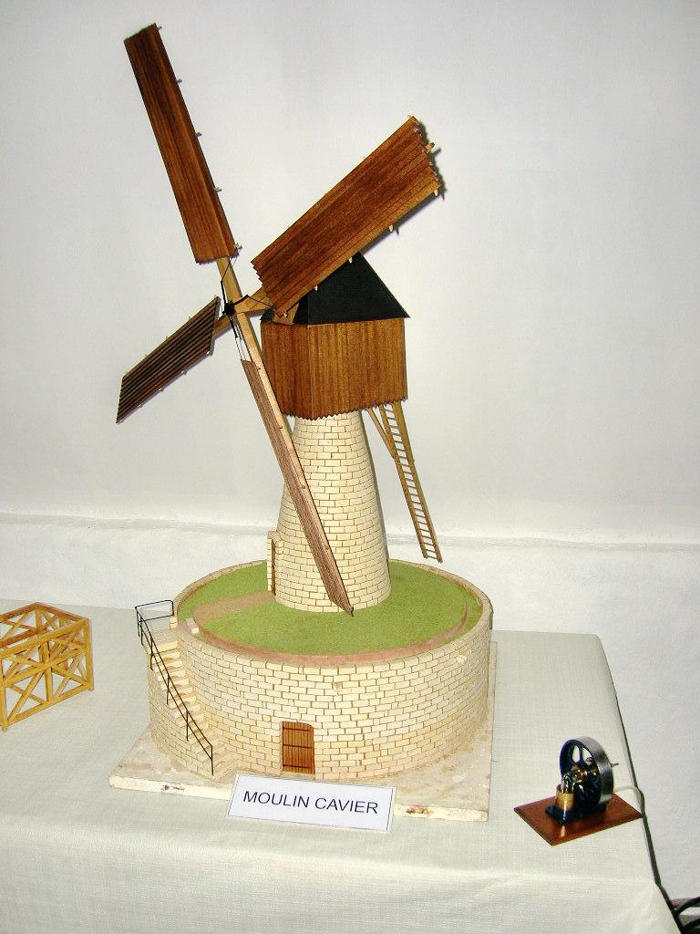Maquette de moulin Cavier